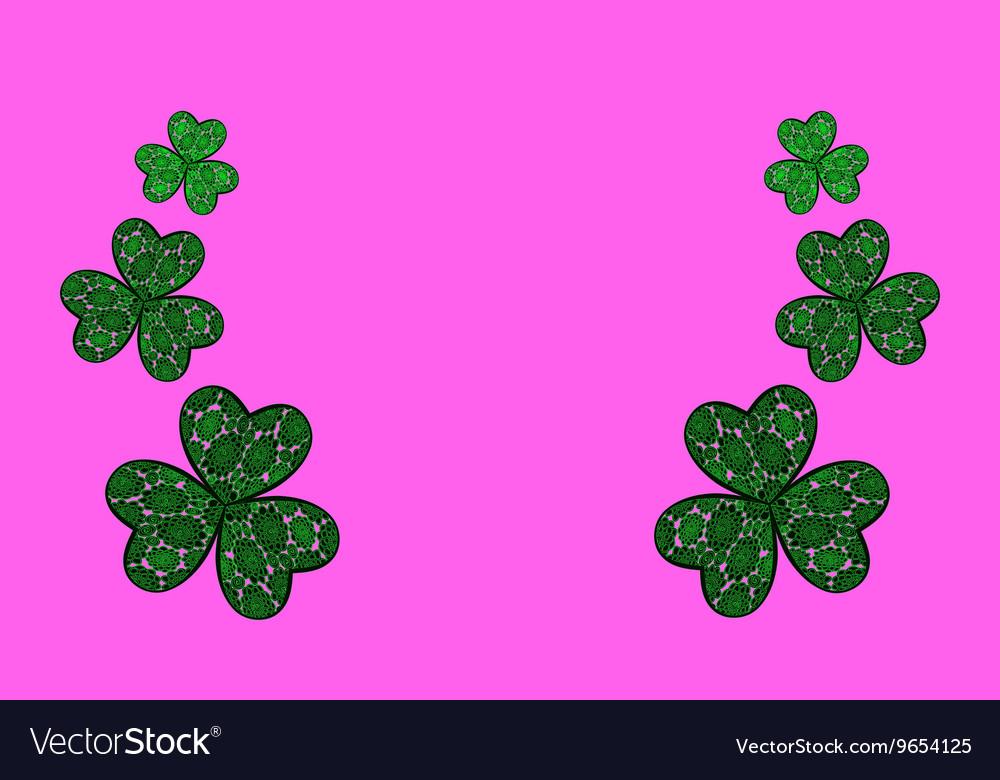 Three Leaf Clovers vector image