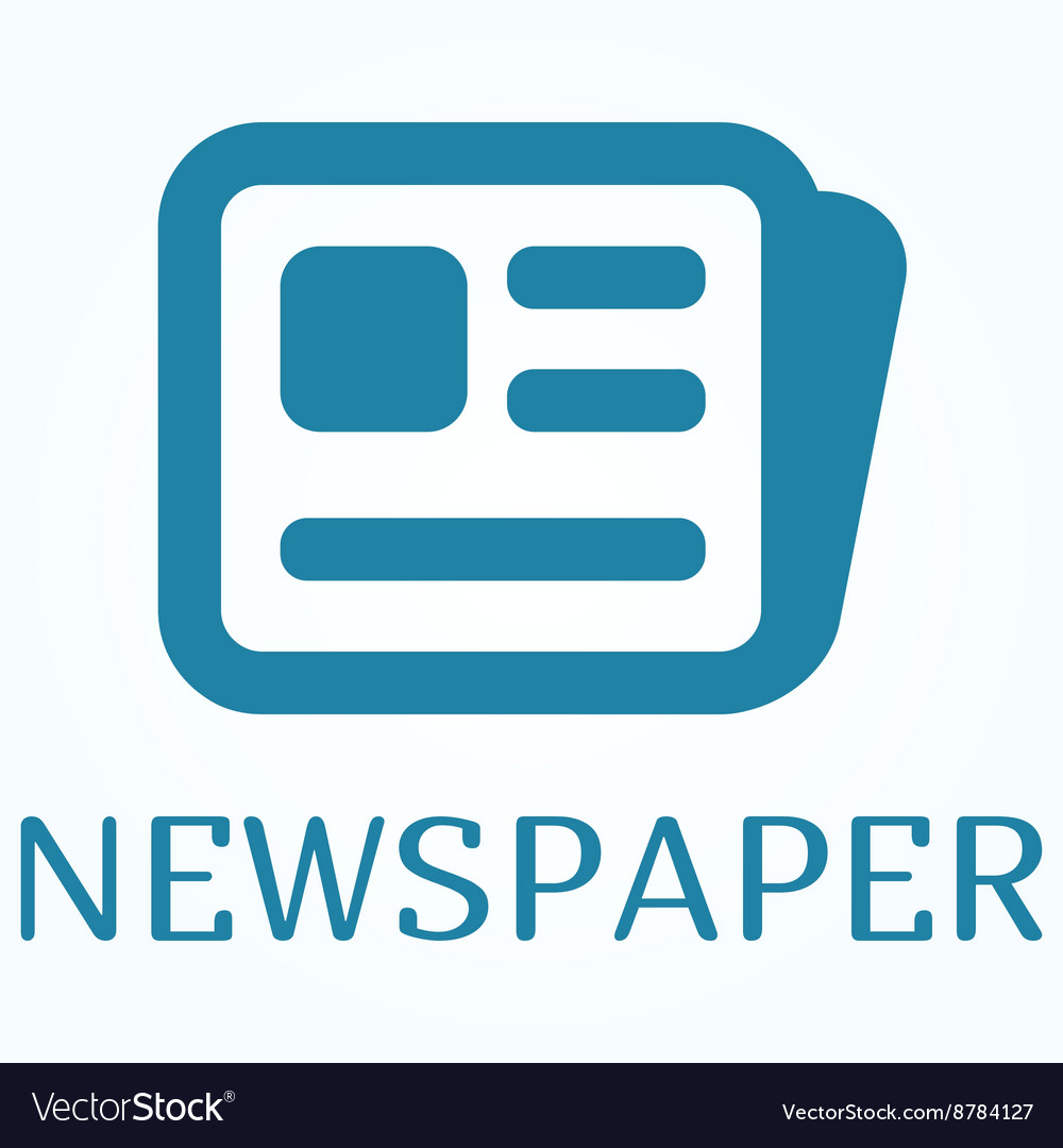 Icon or sign of newspaper in flat style vector image