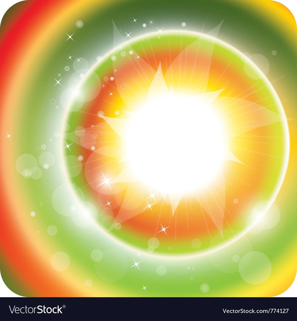 Summer sunlight vector image