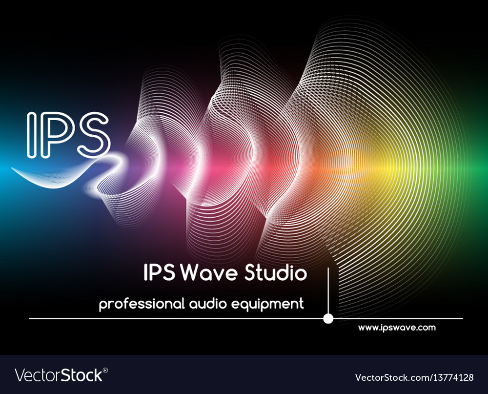Abstract sound waves background colored wave form vector image