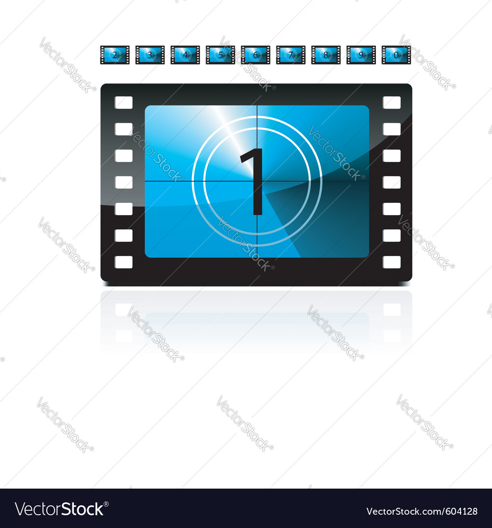 Film count down vector image