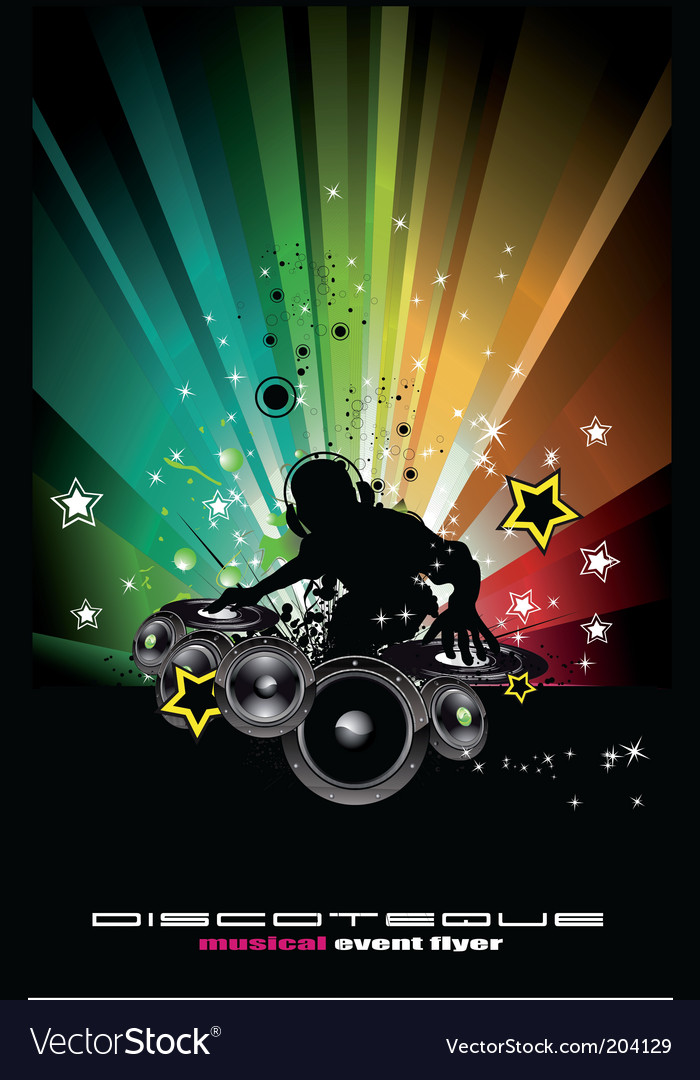 Dj in the mix vector image