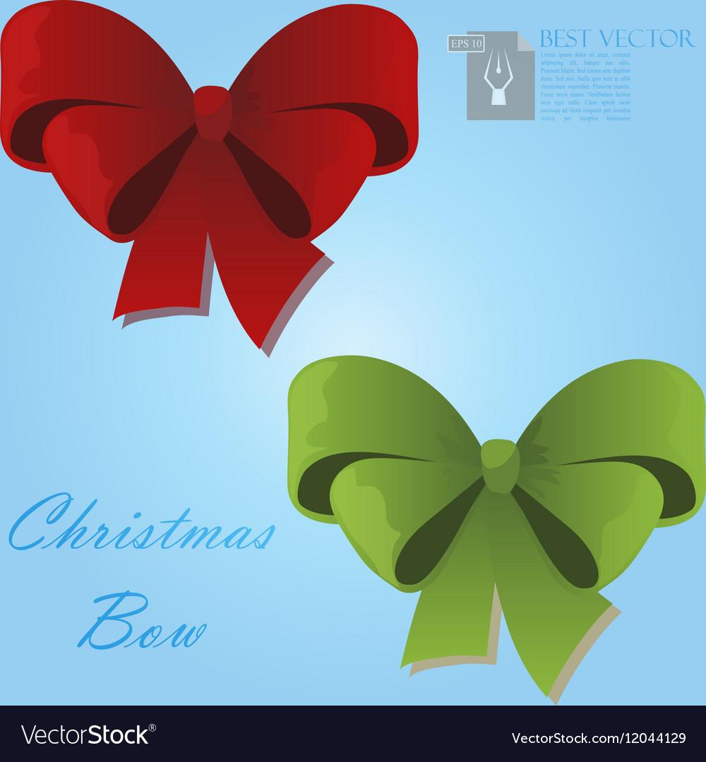 Christmas gift bow vector image