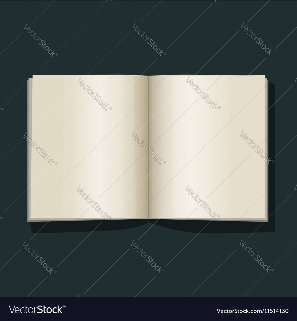 Open book blank empty pages vector image