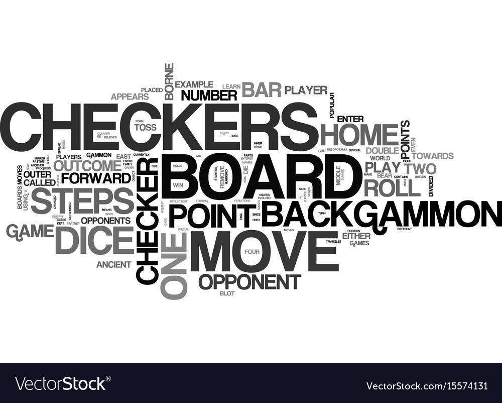Backgammon rules learn how to play backgammon vector image