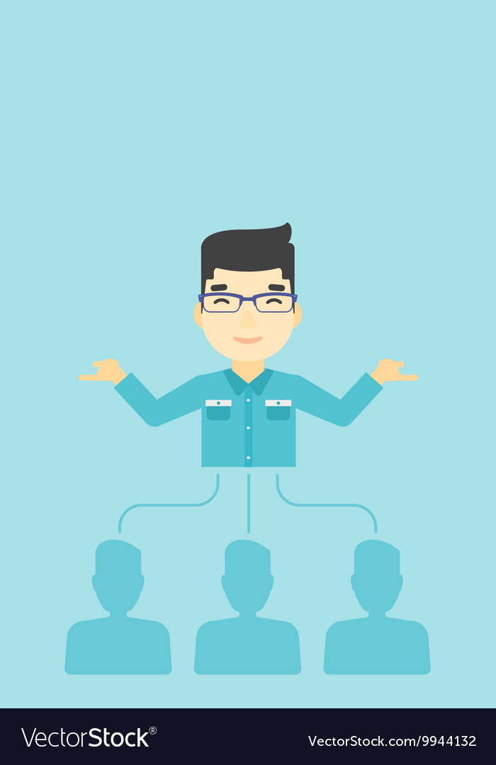 Businessman choosing employee vector image