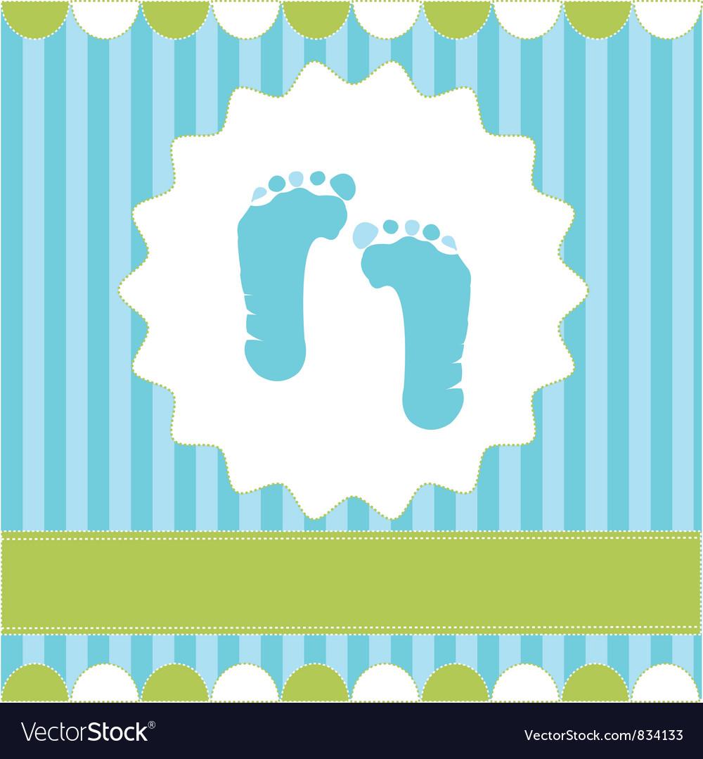 Footprint of boy vector image