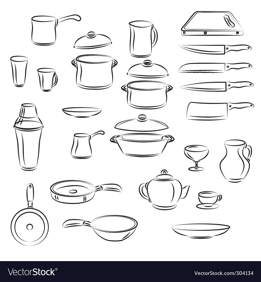 Kitchen utensil vector image