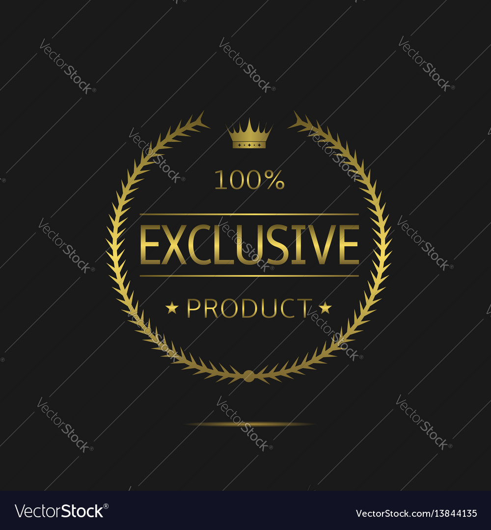 Exclusive product label vector image