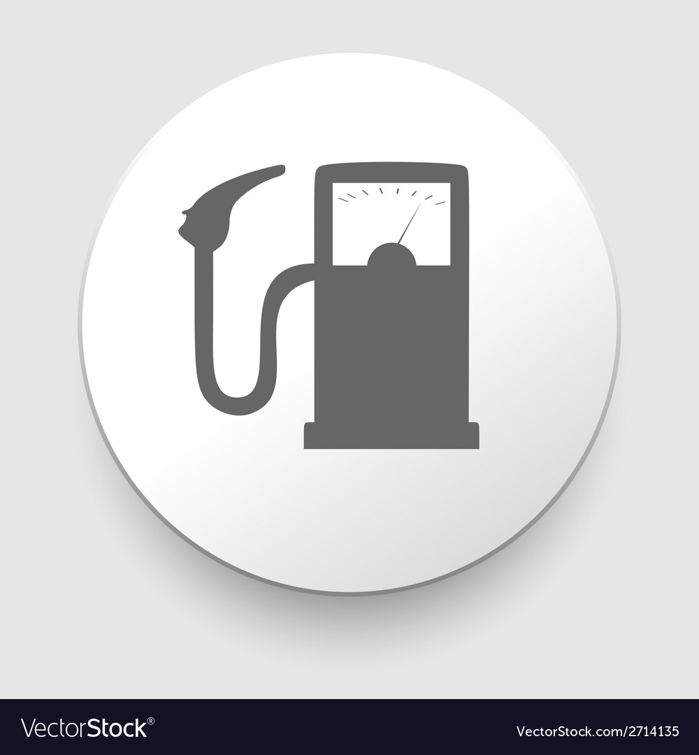Gas Station sign on white background vector image