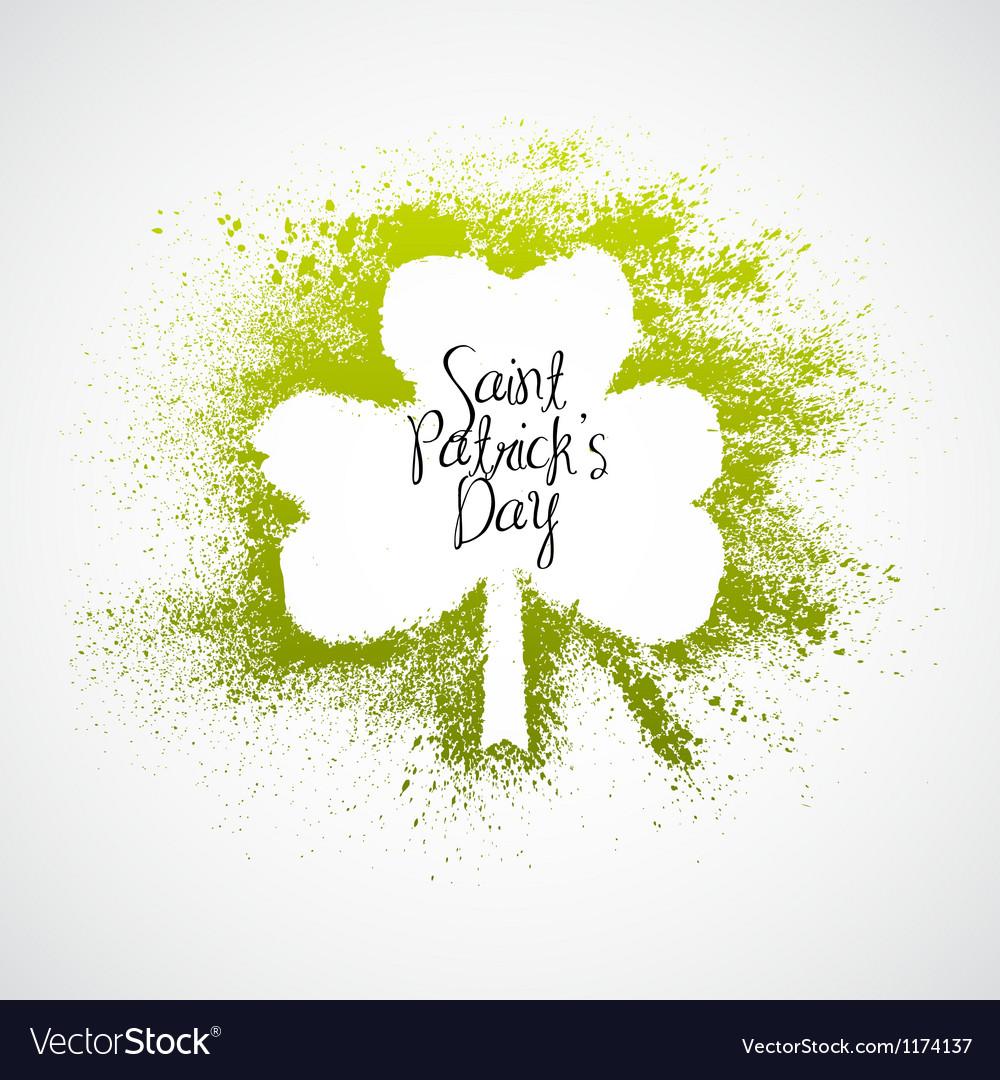St Patrick Day grunge frame vector image