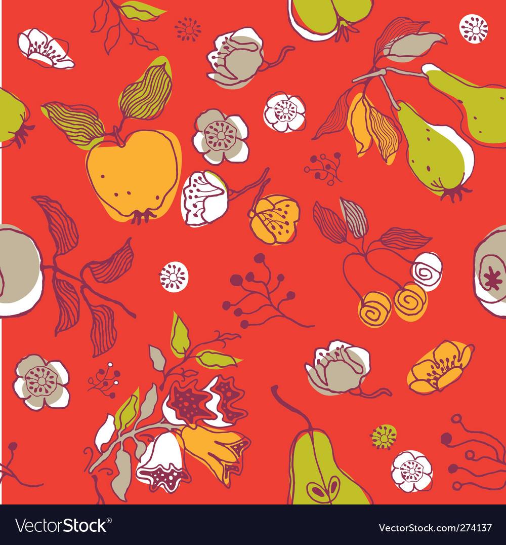 Fruit seamless pattern vector image