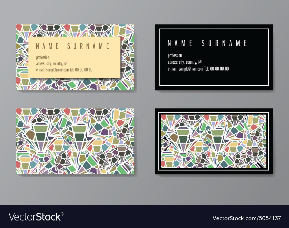 Visit card vector image