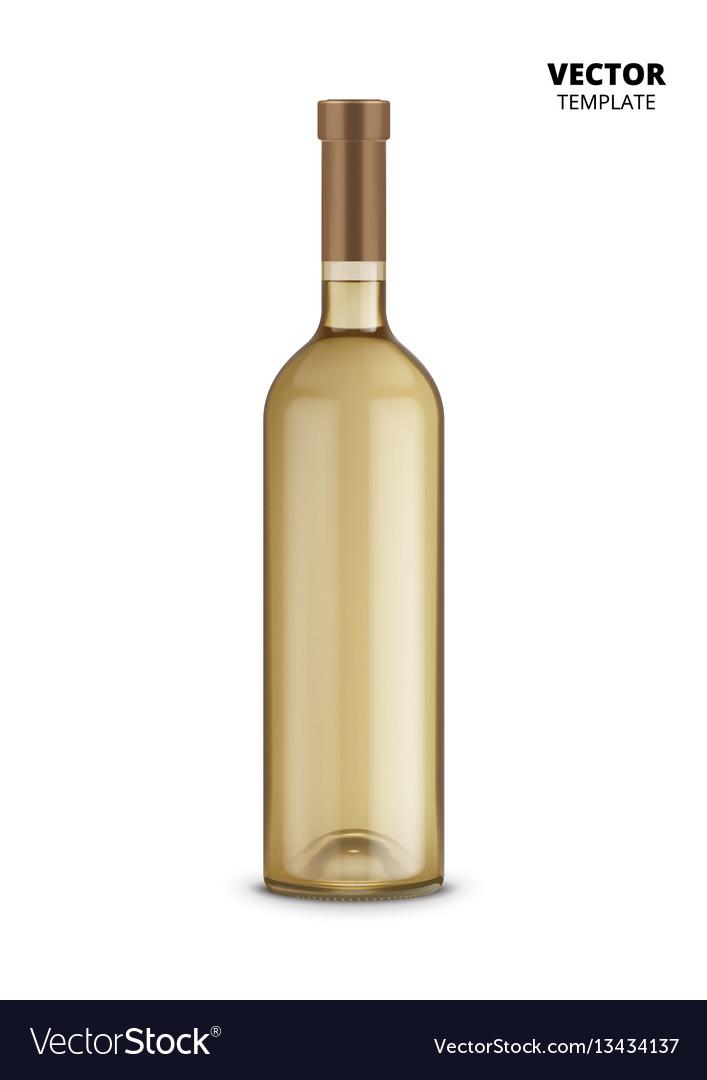 Wine bottle isolated on white background vector image