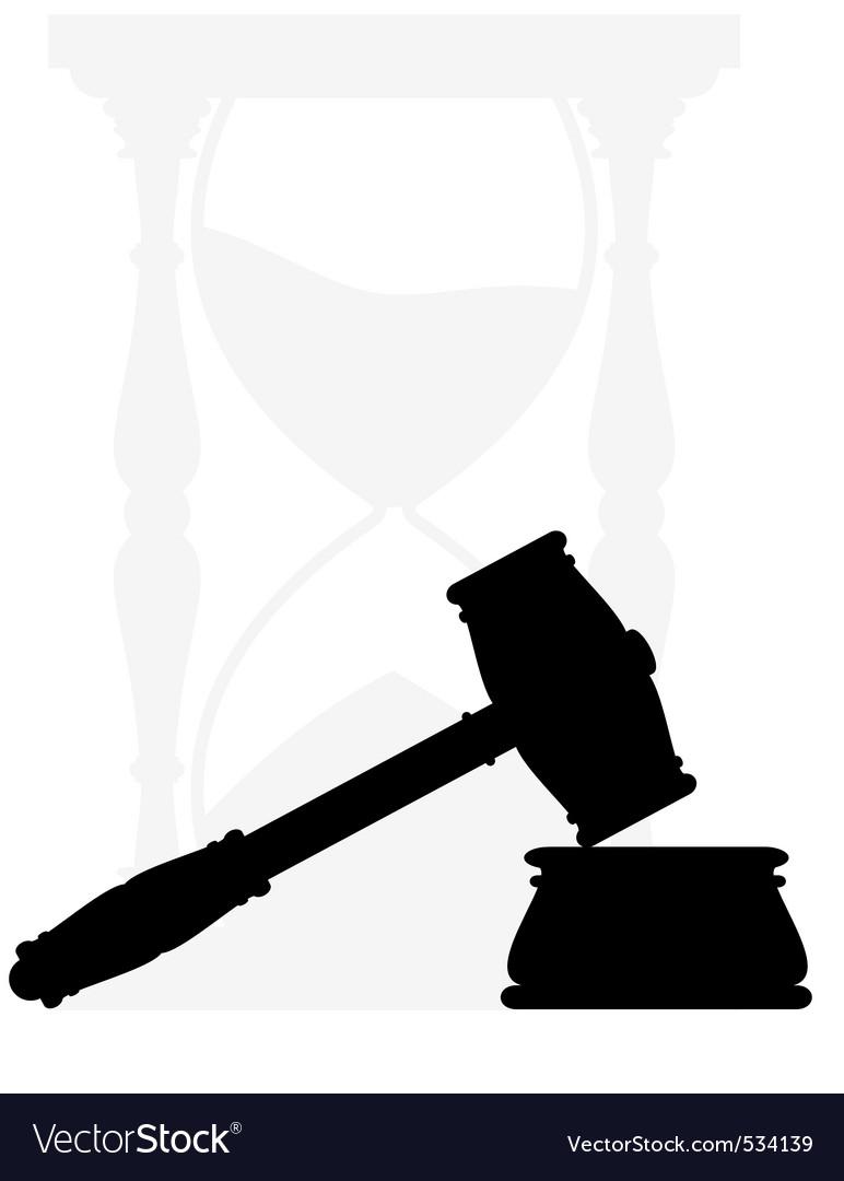 Hammer anvil hourglass vector image