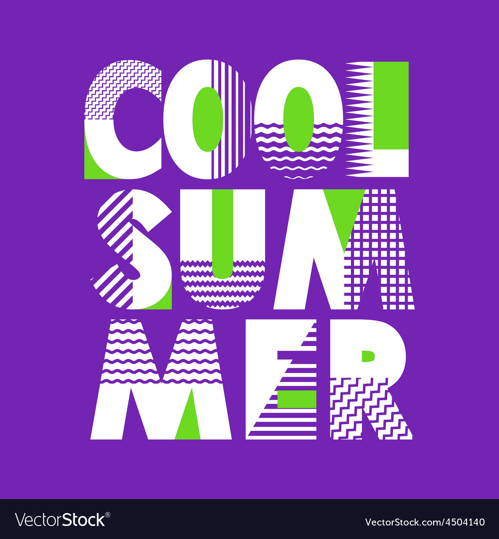 Cool Summer T-shirt Typography vector image