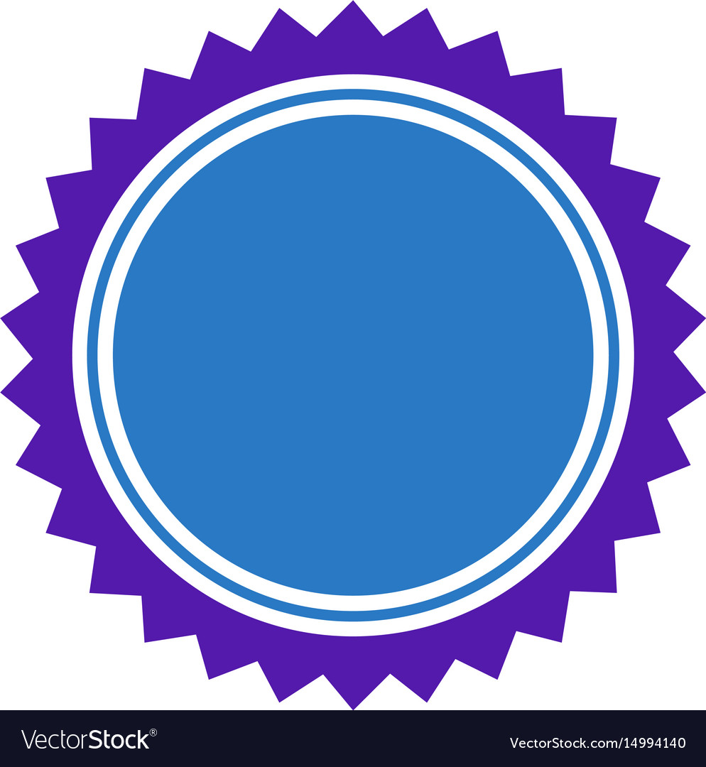 Round seal stamp flat icon vector image