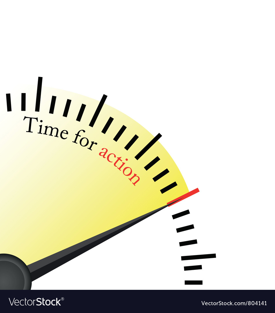 Time for action - speedmetter Vector Image