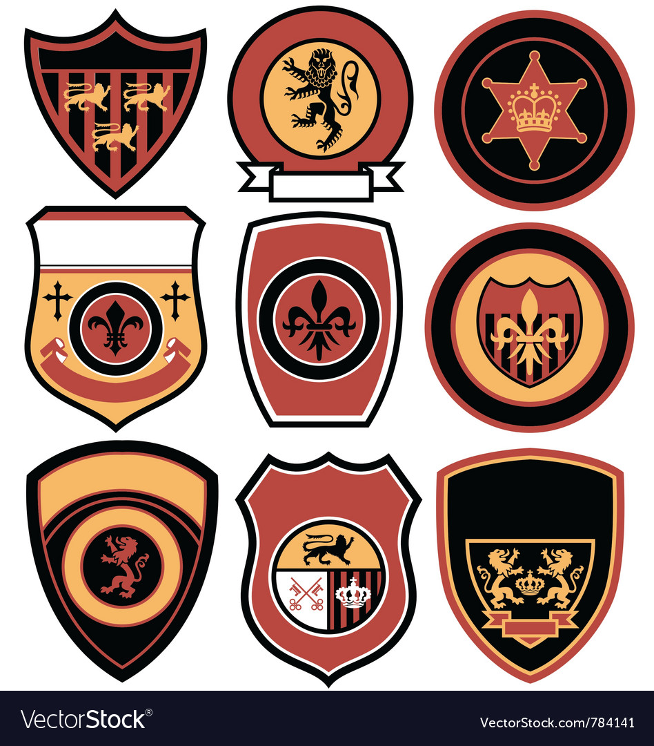 Classic emblem badge design vector image