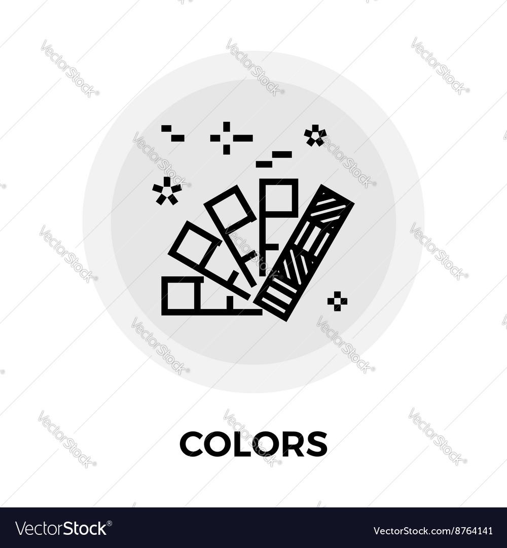 Colors Line Icon vector image