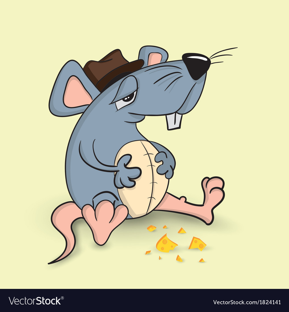 Fat mouse vector image
