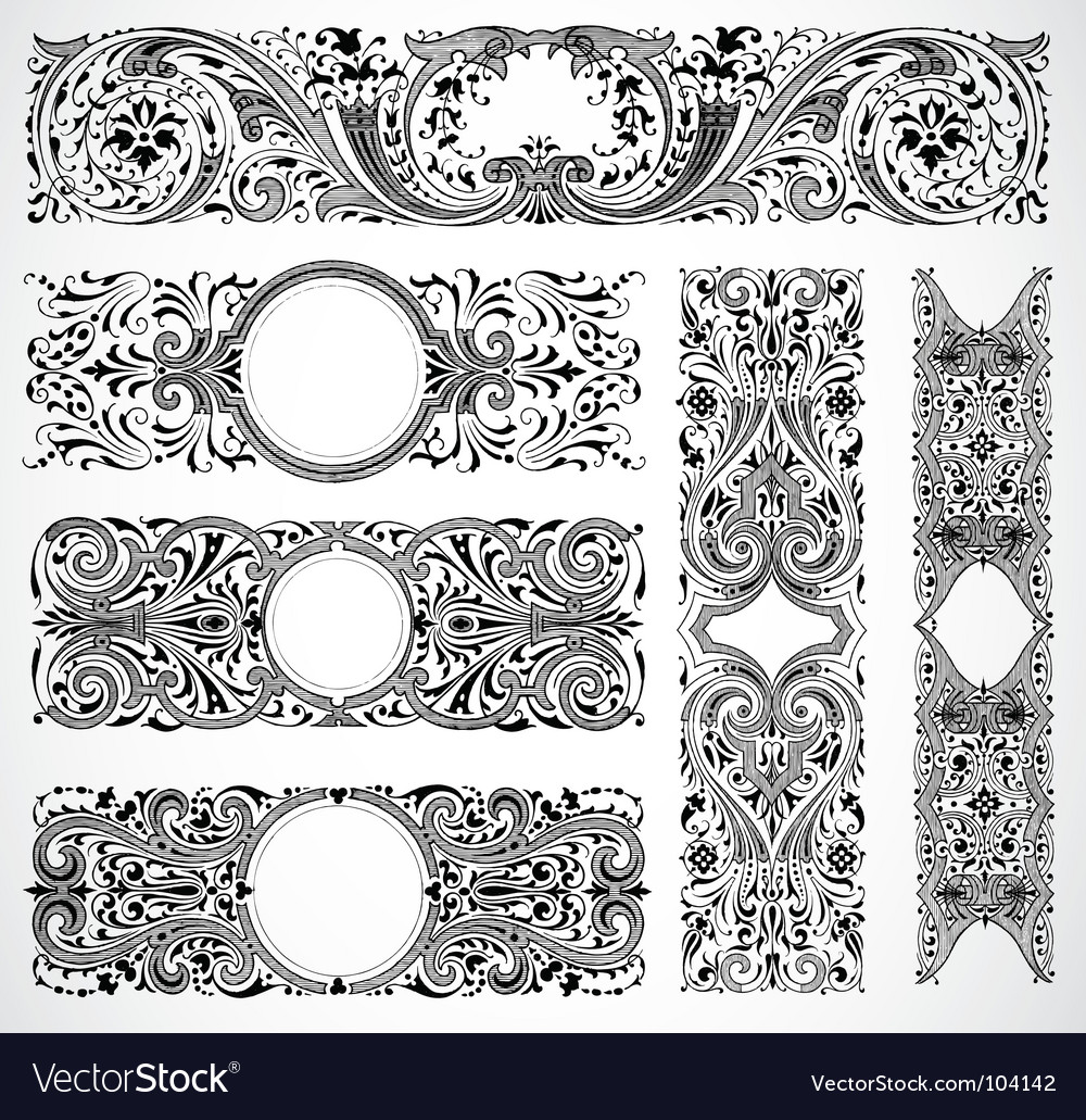 Print design traced vector image