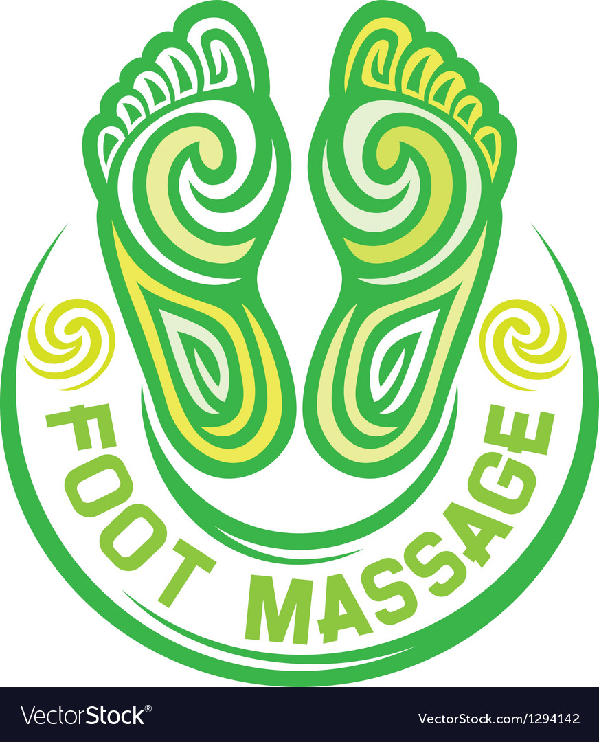 Foot massage symbol vector image