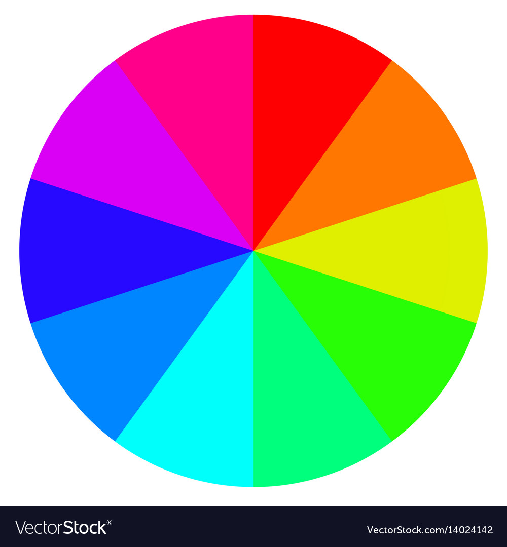 Template wheel fortune color palette vector image