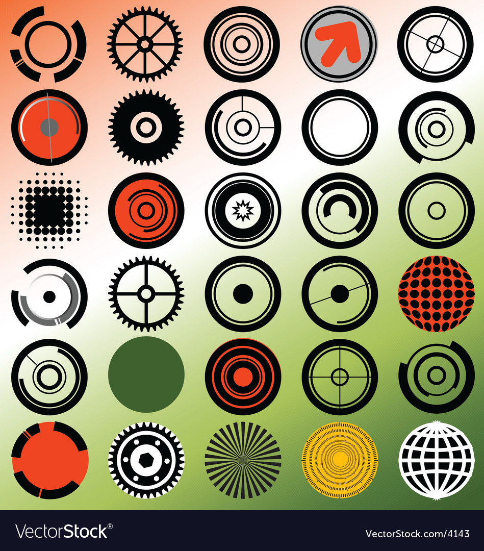 Radial elements vector image