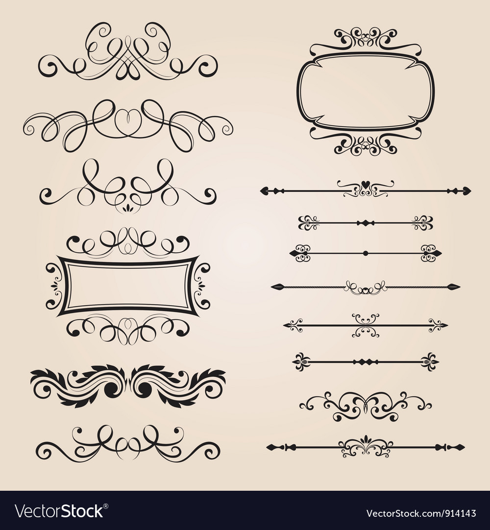 Classic Border Ornament vector image