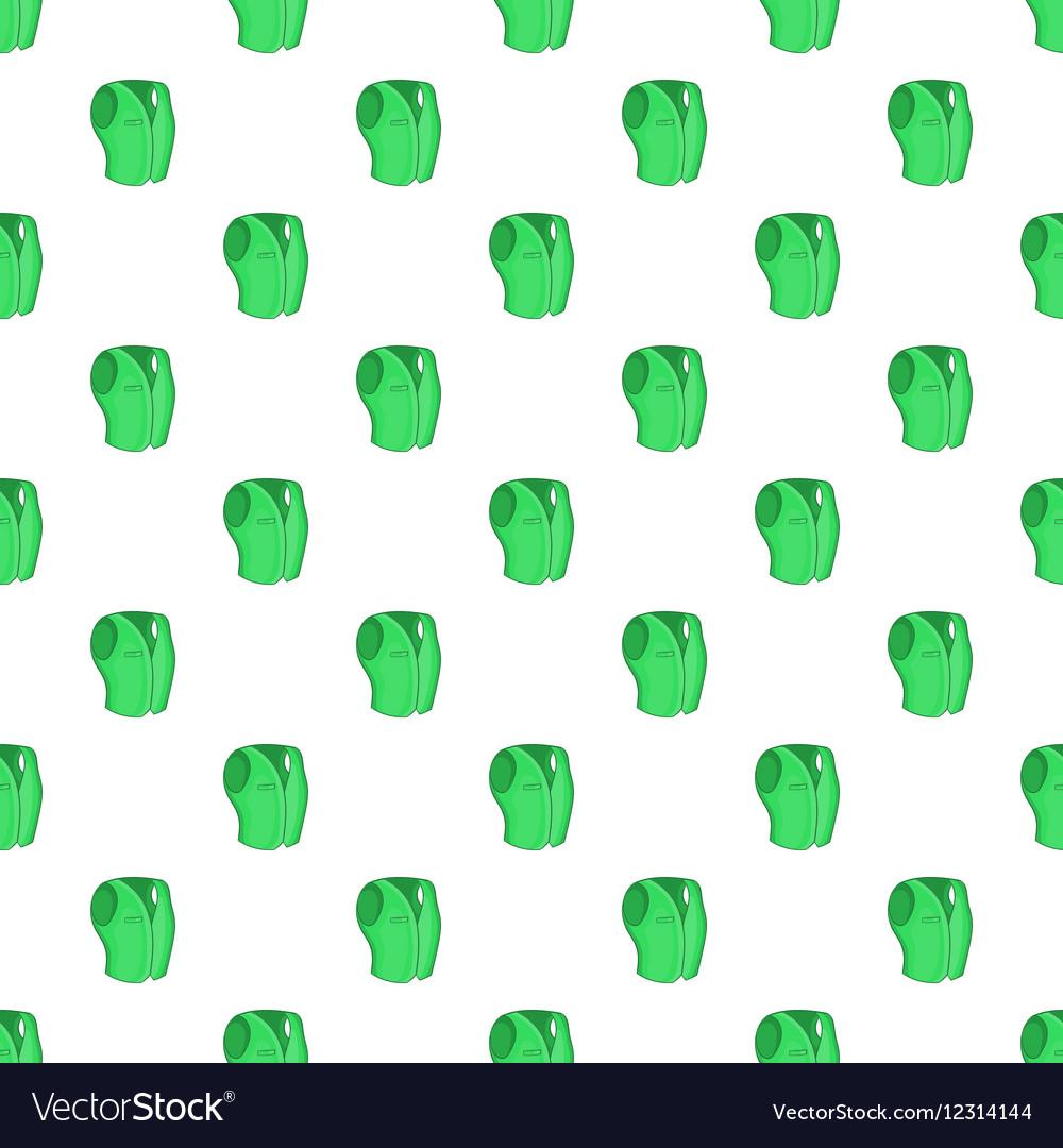 Men classic vest pattern cartoon style vector image