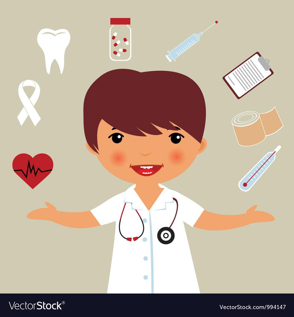 Little Doctor Vector Image