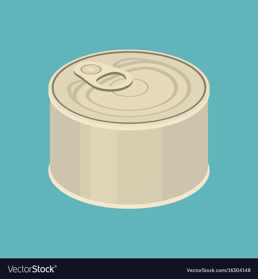 Cannedflat design vector image