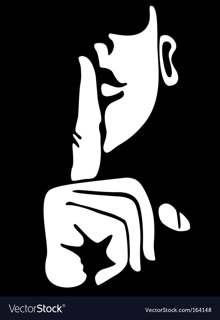 Silence vector image