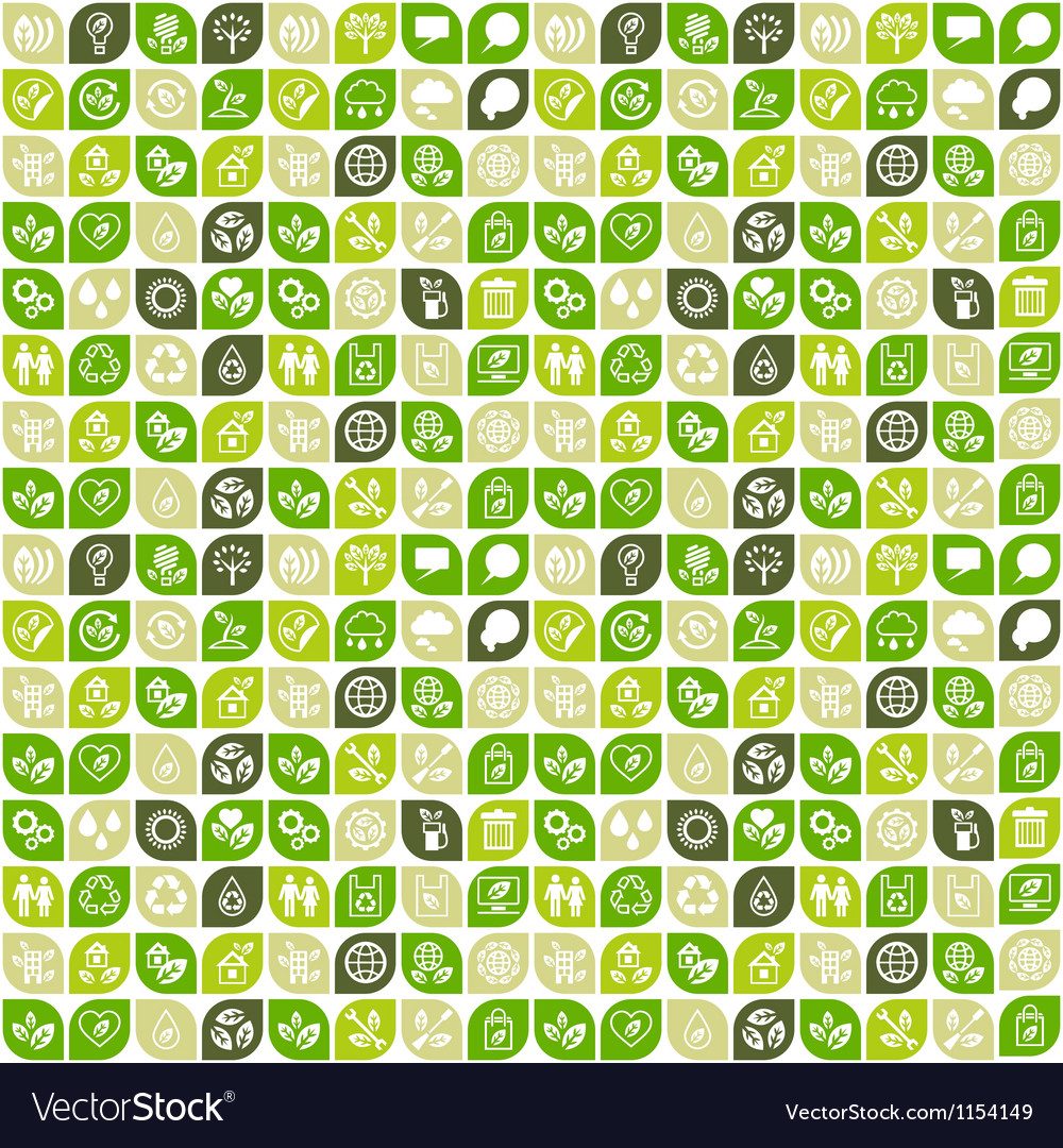 Abstract background of eco web icons vector image