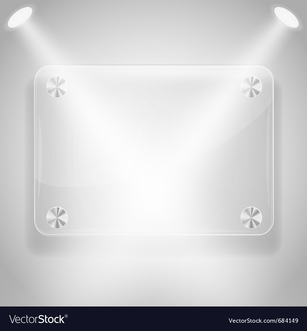 Glass framework with spotlights Vector Image