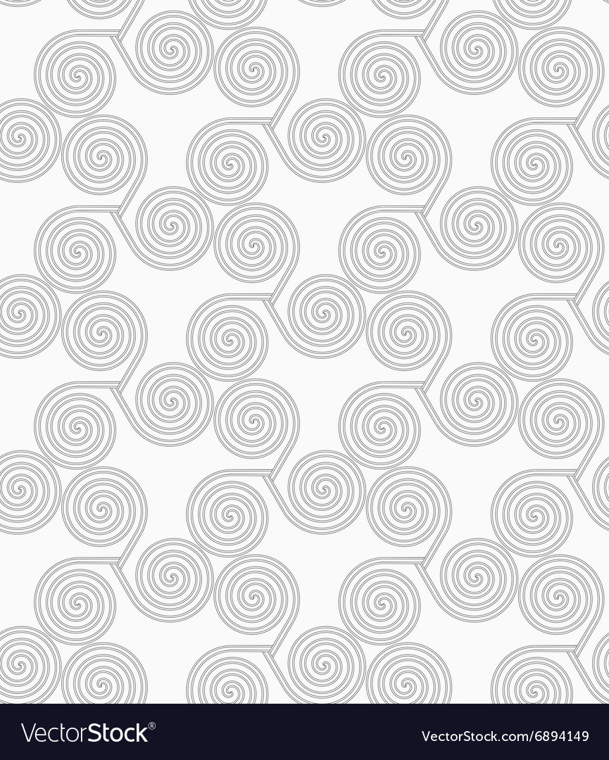 Slim gray small striped spirals three turn vector image