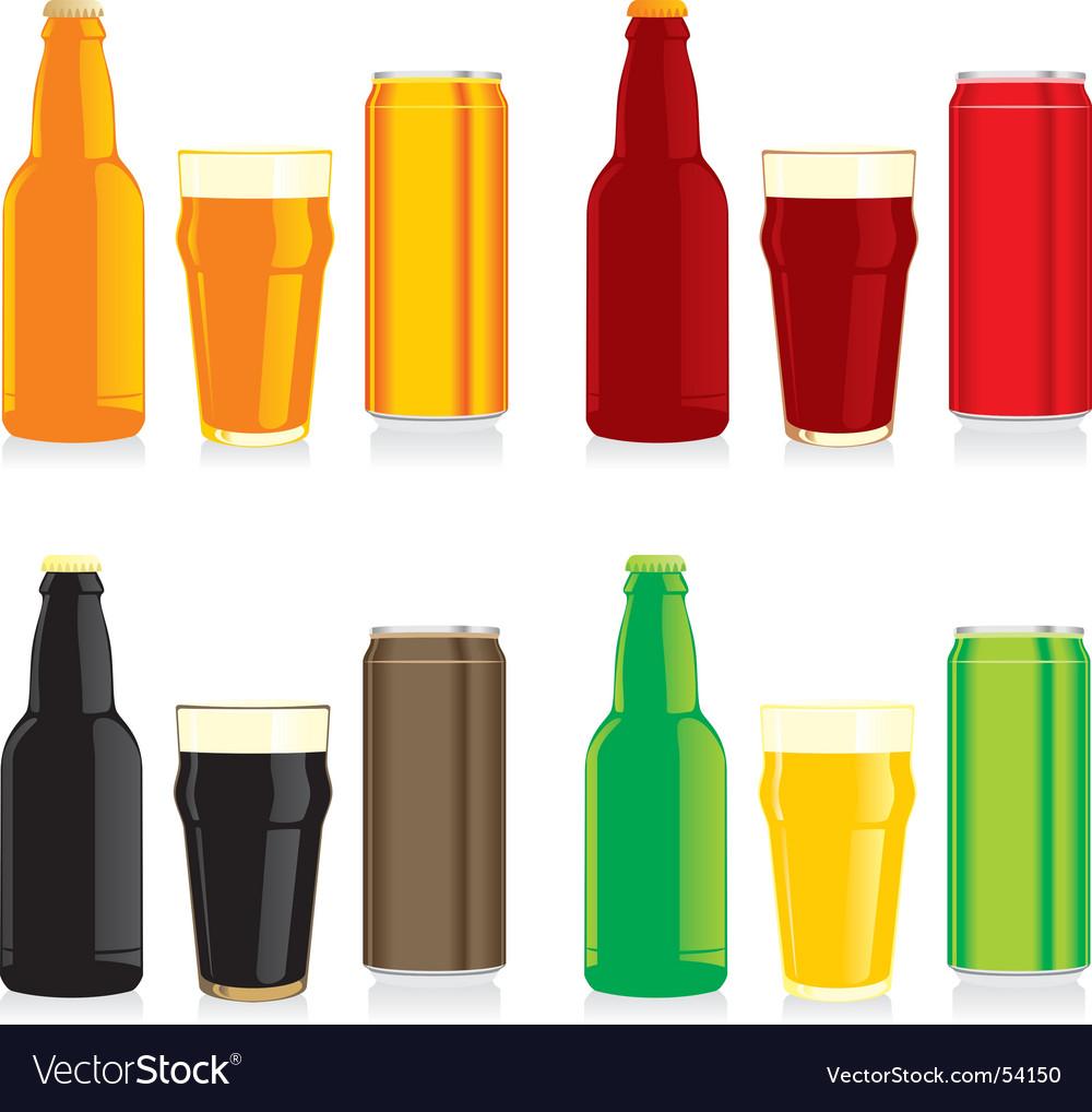 Beer brands vector image