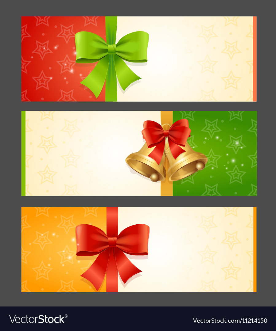 Present Card Template Royalty Free Vector Image