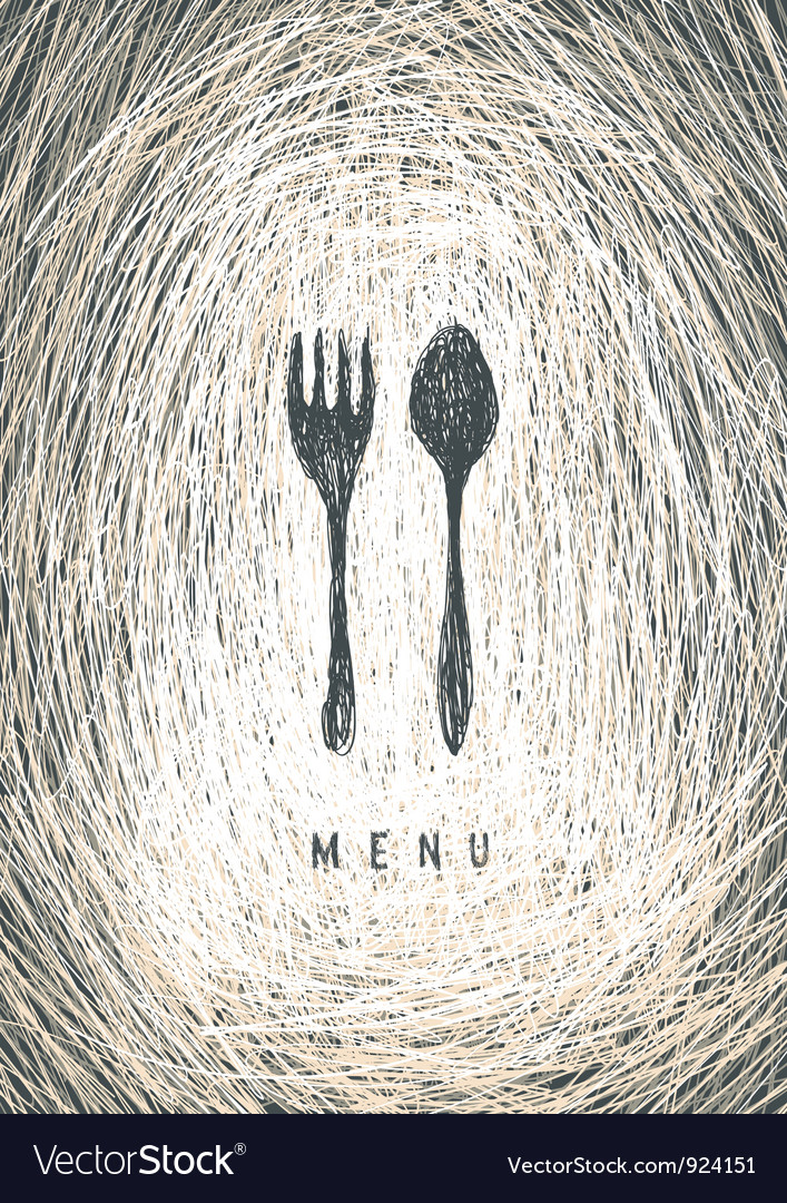 Art restaurant menu vector image