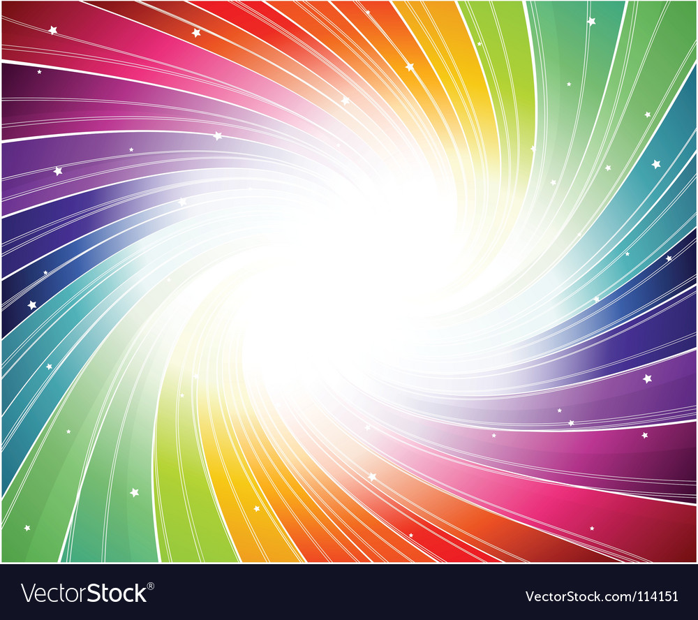 Rainbow spiral background vector image