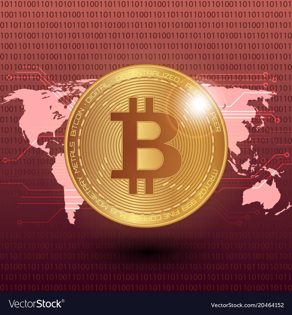 Bitcoin Stock Digital Royalty Free Vector Image