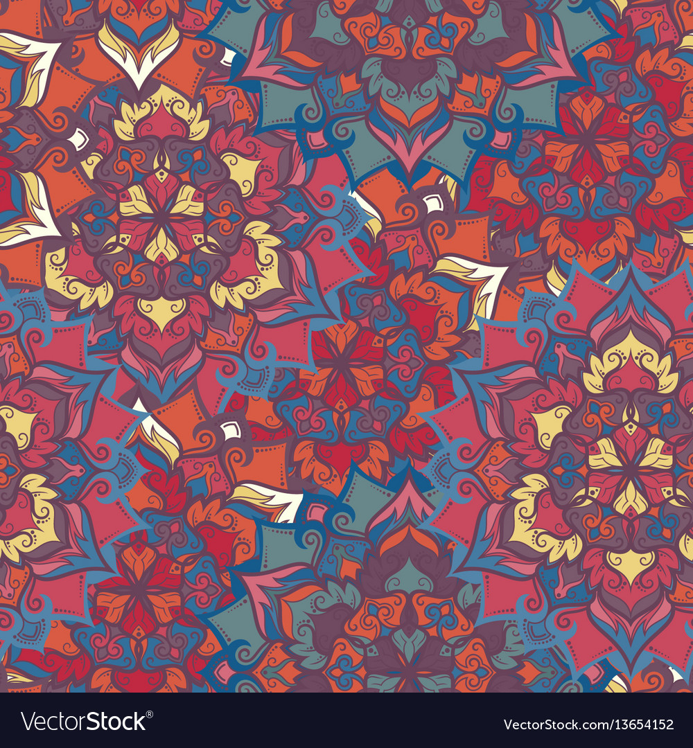 Boho flower pattern vector image