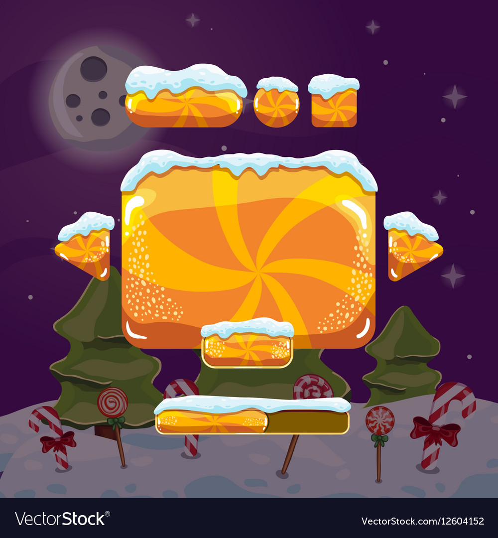 Sweet winter user interface game vector image
