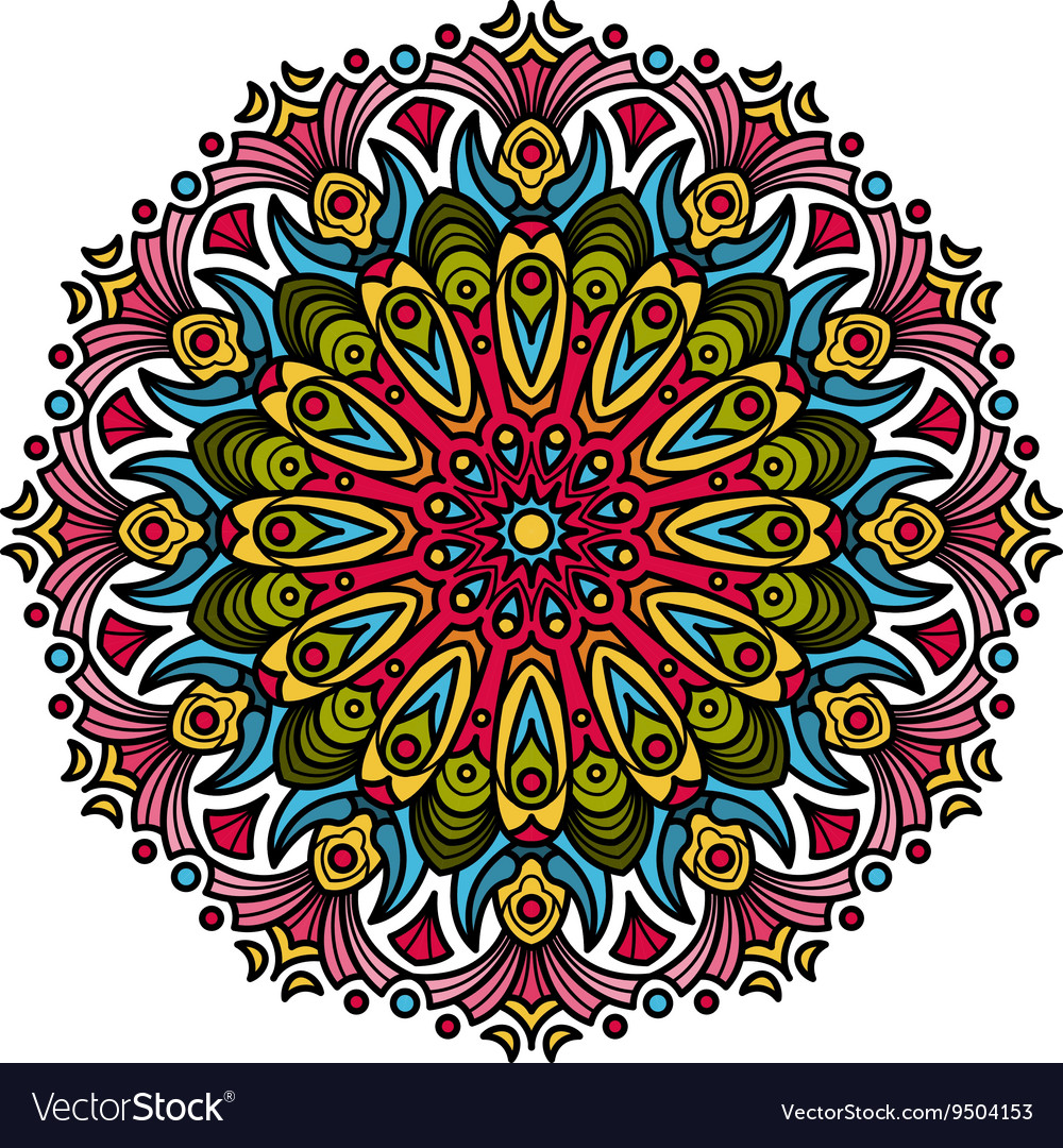 Beautiful Mandala Hindu symbol vector image