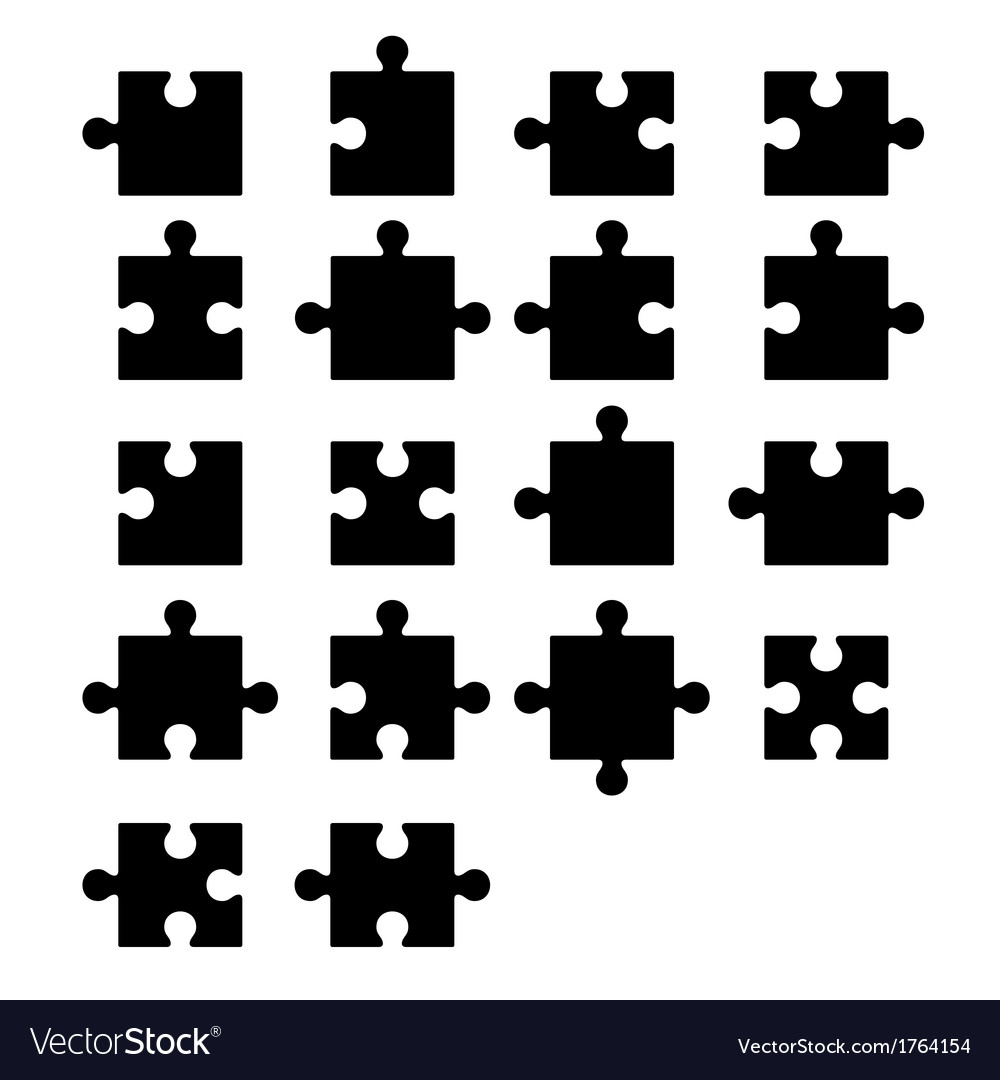 Jigsaw puzzle blank parts constructor vector image