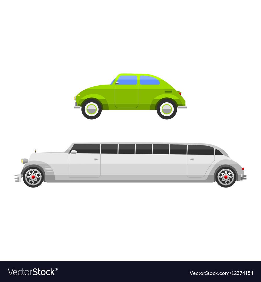 Retro car vehicle vector image