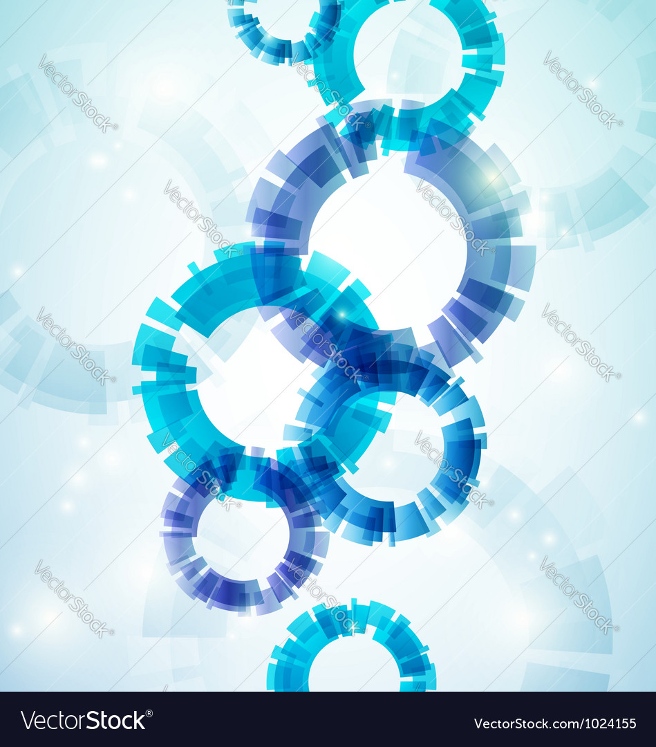 Blue abstract circles vector image