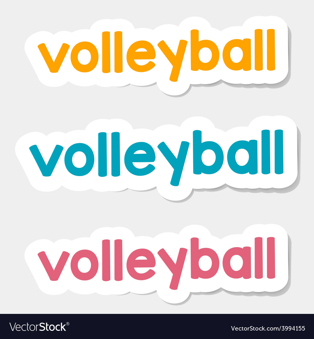 Logo volleyball on a light background vector image