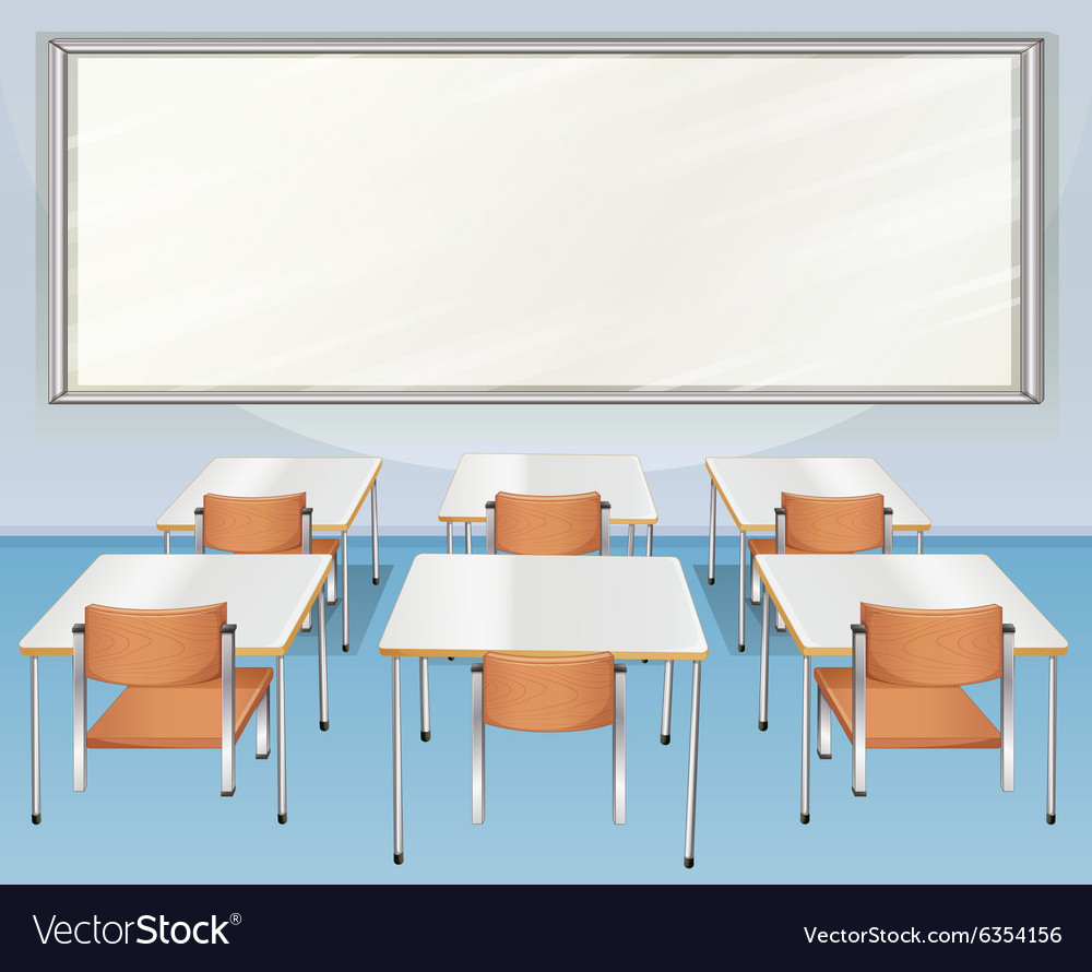 classroom table vector. classroom full of chairs and tables vector image table t